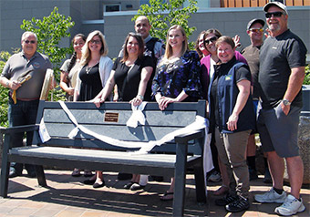 Trail bench to memorialize victims and survivors of crime